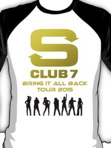S Club 7 Bring It All Back Tour 2015 T-Shirt