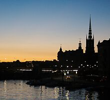 Stockholm sunset by bluecoomassie