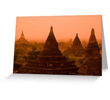 Stupas In The Mist Greeting Card