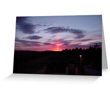 Strange sky over Grainan  Greeting Card