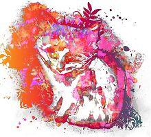Kitten Colour Splash by jlillustration