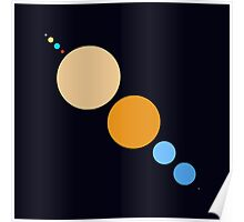 Planets To Scale (diagonal) Poster
