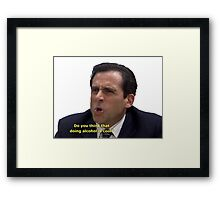 Do you think that doing alcohol is cool??? Framed Print