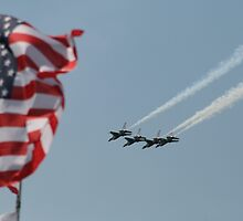 Thunderbirds & Old Glory by James Adams