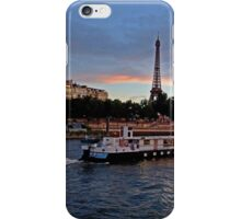 France - Eiffel Tower and Boat Dusk iPhone Case/Skin