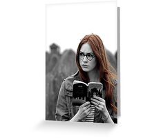 Amy Pond Book Greeting Card