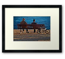 Chat On The Shore Framed Print