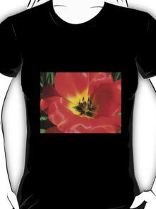 Stunning Scarlet Tulip Supermacro T-Shirt