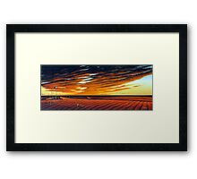 Dusk on the Simpson Framed Print