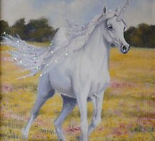 Spring Unicorn by louisegreen