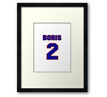 National Hockey player Boris Mironov jersey 2 Framed Print