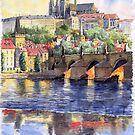Prague Castle with the Vltava River1 by Yuriy Shevchuk