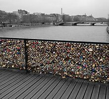 Paris love Padlocks by aketton