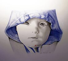 Baby in a Blue Hat by Nori Bucci