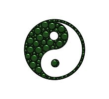 Green and Black Yin Yang With Bubble Texture by TigerLynx