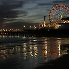 Santa Monica Pier _ old FerrisWheel (2007) by Bryan Cole