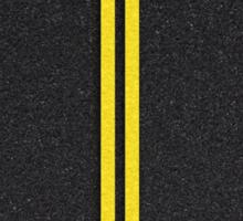 Asphalt road. Sticker