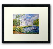 Chateau Azay le Rideau watercolor painting Framed Print