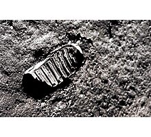 First moon footprint. Photographic Print
