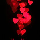 Cascading Hearts_I Love You (Portrait) by Dale Rockell