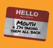 Mouth Name Badge - The Goonies T-Shirt