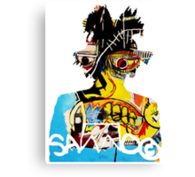 Basquiat SAMO silhouette Untitled Canvas Print