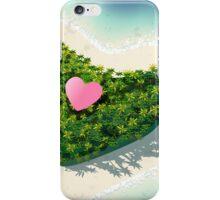 Happy Valentine's Day Tropical Island  iPhone Case/Skin