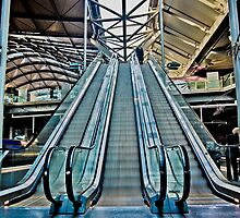 Upfield Line Down Escalator by FuriousEnnui