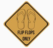Flip flops only. Surf sticker for easy people. Kids Clothes