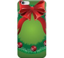 Christmas wreath with red bow iPhone Case/Skin