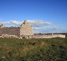 Rural Burren Church ruins by John Quinn