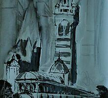 Flinders Station Clocktower, Melbourne by Alison Howson