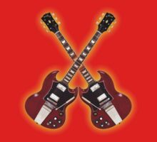Double red vintage gibson sg by vikisa