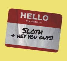 Sloth Name Badge - The Goonies Kids Clothes