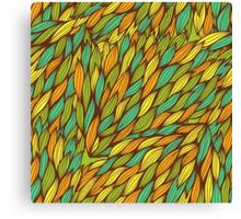 Hand drawn swirly pattern Canvas Print