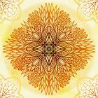 Golden mandala by Patternalized
