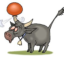 Bull With Ball by kwg2200