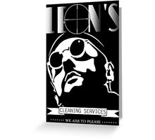 Leon's cleaning services. Greeting Card