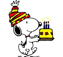 Happy birthday Snoopy Photographic Print