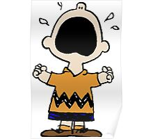 Charlie Brown Cries Poster