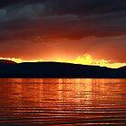 Sunset Red by Deborah  Benoit