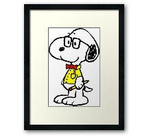 Snoopy nerd Framed Print