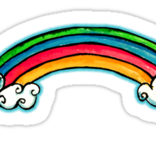 Mega Rainbow TShirt Sticker