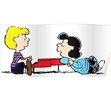 Lucy and Schroeder Poster