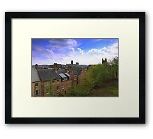 The City of Durham, Northern England. 23rd April 2014 Framed Print