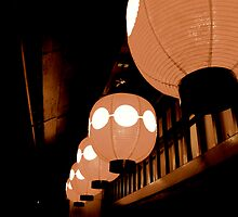 shinsaibashi lanterns by geikomaiko