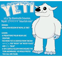 Yeti With Title Photographic Print