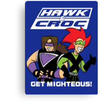 Hawk & Crocdown v2 Canvas Print