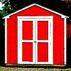 old red shed by Jennifer  Hammann