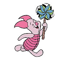Piglet with a Pinwheel Photographic Print